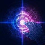 Vektor, berühren die Zukunft, Schnittstellentechnologie, die Zukunft der Benutzererfahrung Abstrakte Hintergrundabbildung stock abbildung