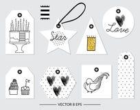 vektor Beståndsdelar för födelsedagen, parti som gifta sig Royaltyfria Foton