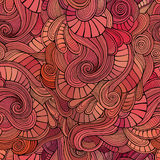 Vektor bewegt nahtloses Muster der dekorativen Gekritzel wellenartig Stockfotografie