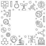 Vektor-Biotechnologie oder linearer Rahmen oder Illustration Biotech vektor abbildung