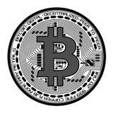 Vektor bitcoin Illustration lizenzfreie abbildung