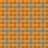 Vektor - Blatt-Ahornholz u. Gingham-nahtloses Muster Stockfotografie