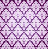 Vektor-Blatt-Damast-Hintergrund-Muster Stockbild