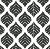 Vektor-Blatt-Muster-Schwarzweiss-Hintergrund-Illustration Lizenzfreie Stockfotografie