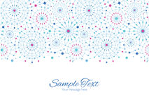 Vektor-blaue abstrakte Linie Art Circles Horizontal Stockbild