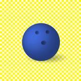 Vektor-blaue Bowlingkugel, lokalisiert auf weißem Hintergrund-Gegenstand stock abbildung