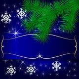 Vektor-blaue Weihnachtsfeiertags-Gruß-Karte lizenzfreie abbildung