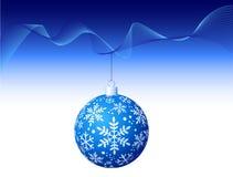 Vektor - blaue Weihnachtskugel Lizenzfreies Stockfoto