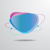 Vektor-blauer Aufkleber Lizenzfreies Stockbild