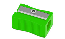 Vektor-Bleistiftspitzer-Bleistiftgrün Stockfotografie