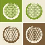 Vektor-Blume des Leben-Symbols in Zen Circle Illustration Lizenzfreies Stockbild
