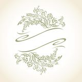 Vektor-Blumenblatt-Ikone Logo Seal Lizenzfreies Stockfoto