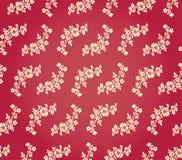 Vektor-Blumendamast-Hintergrund-Muster Stockfotografie
