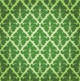 Vektor-Blumendamast-Hintergrund-Muster Lizenzfreie Stockbilder