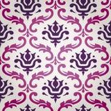 Vektor-Blumendamast-Hintergrund-Muster Stockfotos