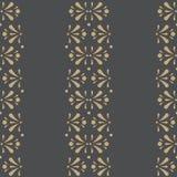Vektor-Blumenstreifen auf dunklem nahtlosem Musterhintergrund vektor abbildung