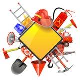Vektor-Brandverhütungs-Schild Lizenzfreie Stockbilder