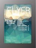 Vektor-Broschüren-Flieger-Entwurf-Schablonen Abstraktes polygona Stockbilder