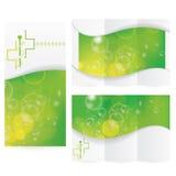 Vektor-Broschüren-Plan-Design Lizenzfreies Stockfoto
