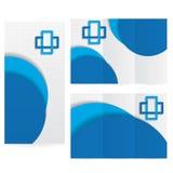 Vektor-Broschüren-Plan-Design-Schablonengrün medizinisch Lizenzfreie Stockfotografie