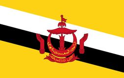 Vektor-Brunei-Flagge lizenzfreie abbildung