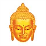 Vektor-Buddha-Kopf Lizenzfreie Stockbilder