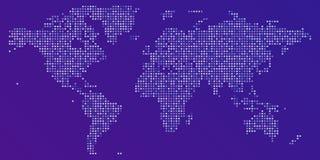 Vektor-bunte punktierte Karte der Welt lizenzfreie abbildung