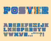 Vektor-bunter grafischer Alphabet-Satz Stockbild