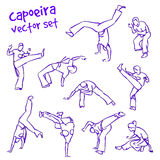 Vektor capoeira Satz Lizenzfreie Stockfotos
