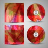 Vektor-CD-Abdeckungssatz für Ihren Entwurf Lizenzfreie Stockfotos