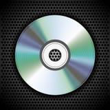 Vektor CD auf Metallplatte für Ihr Design Stockfotos