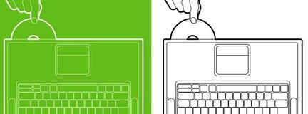 Vektor - CD und Tastatur stock abbildung
