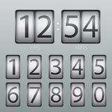 Vektor-Count-down-Timer-und Anzeigetafel-Zahlen lizenzfreie abbildung