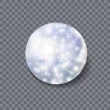 Vektor Crystal Ball, magisk symbol, skinande ljus och realistiskt objekt 3D royaltyfri illustrationer