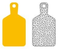 Vektor 2D Mesh Cutting Board och plan symbol royaltyfri illustrationer