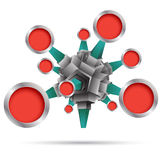 Vektor 3d mit Kreis Stock Abbildung
