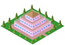 Vektor da pirâmide da casa Imagem de Stock
