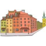 Vektor Das königliche Quadrat warschau Lizenzfreie Stockbilder