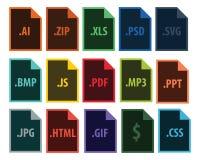 Vektor-Dateiextension Stockbilder