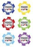 Vektor de las virutas de póker Imágenes de archivo libres de regalías