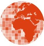 Vektor deckt Mosaikhintergrund mit Ziegeln Stockbilder