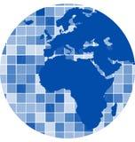 Vektor deckt Mosaikhintergrund mit Ziegeln Lizenzfreies Stockbild