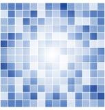 Vektor deckt Mosaikhintergrund mit Ziegeln Stockfotografie