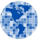 Vektor deckt Mosaikhintergrund mit Ziegeln Stockfoto
