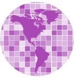 Vektor deckt Mosaikhintergrund mit Ziegeln Stockfotos