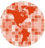 Vektor deckt Mosaikhintergrund mit Ziegeln Lizenzfreies Stockfoto
