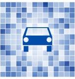 Vektor deckt Mosaikhintergrund mit Ziegeln Lizenzfreie Stockbilder
