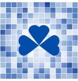 Vektor deckt Mosaikhintergrund mit Ziegeln Lizenzfreie Stockfotos