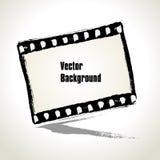 Vektor: Den åldriga illustrationen av en grungefilmstrip inramar. Arkivbilder
