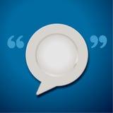 Vektor der Anführungszeichen-Sprache-Platten-Ikone Stockfoto